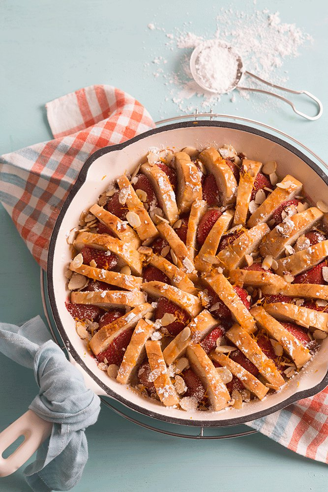 Strawberry-Almond French Toast Casserole
