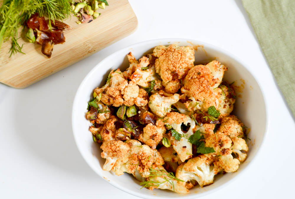 Roasted Mediterranean Cauliflower